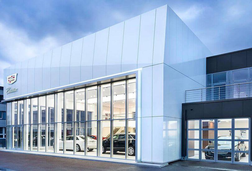 Cadillac, Dresden, Metallfassade, Verbundalu, Fassade, Alpolic, Mitsubishi Polyester Film GmbH