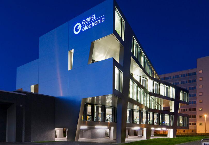 Bild: Gewerbe- und Verwaltungsbau Großaufnahme Göpel Electronic Jena