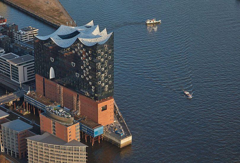Elbphilharmonie, Elphi, Hamburg, Dach, Pailetten, Foliendach, Dacheinzelhalter, Patent, Pins