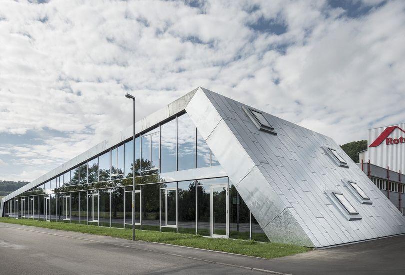 Roto, Bad Mergentheim, Dach, Stehfalz, Bemo, Stahl, Stahlblech