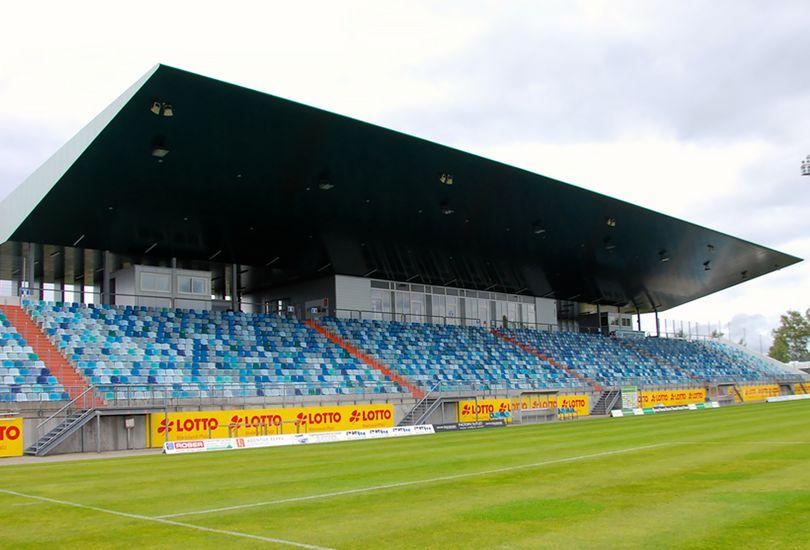 Fußballstadion, Stadion, Pirmasens, Dach, Stadiondach, Sandwichpaneel, Alucobond, 3 A Composites GmbH