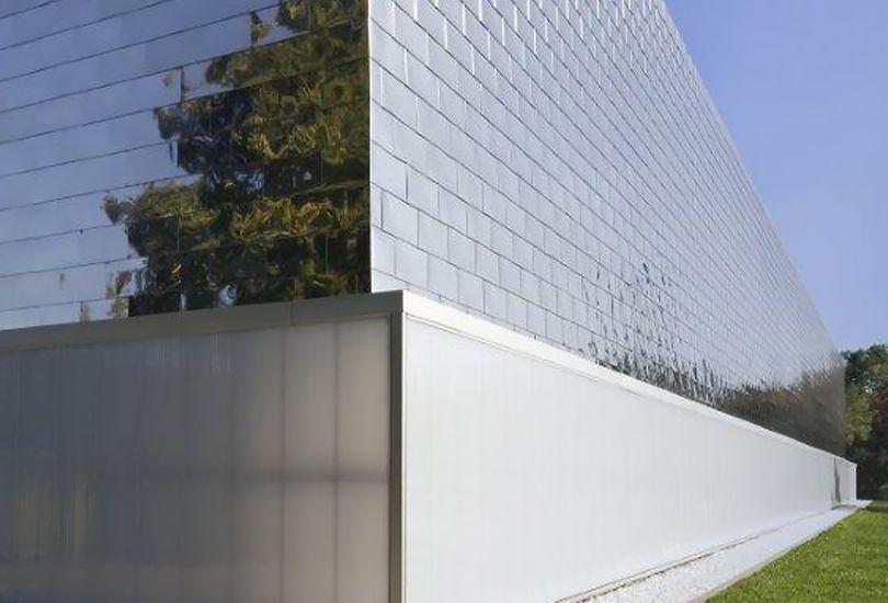 GFC, Coswig, Metallfassade, Fassade, Trapezblech, Edelstahl-Schindel-Fassade, Schindeln, Metallschindeln