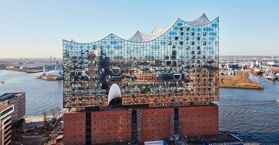 Bild: Aussenansicht Elbphilharmonie Hamburg