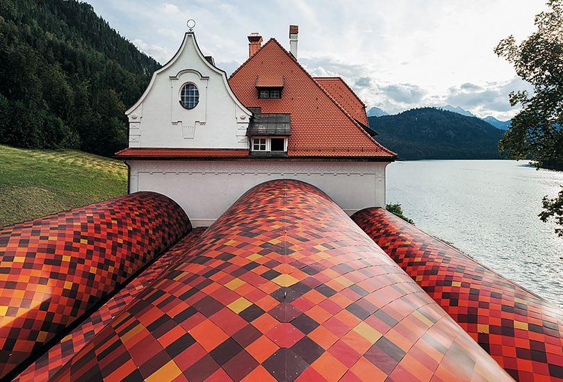 Museum der bayrischen Könige, Hohenschwangau, Schloss Neuschwanstein, Dach, Aluminiumstehfalz, Stehfalz, Metallschindeln, aufgeständert