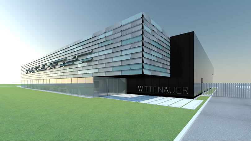 Bild: Modell Aussenansicht Firmenneubau Wittenauer